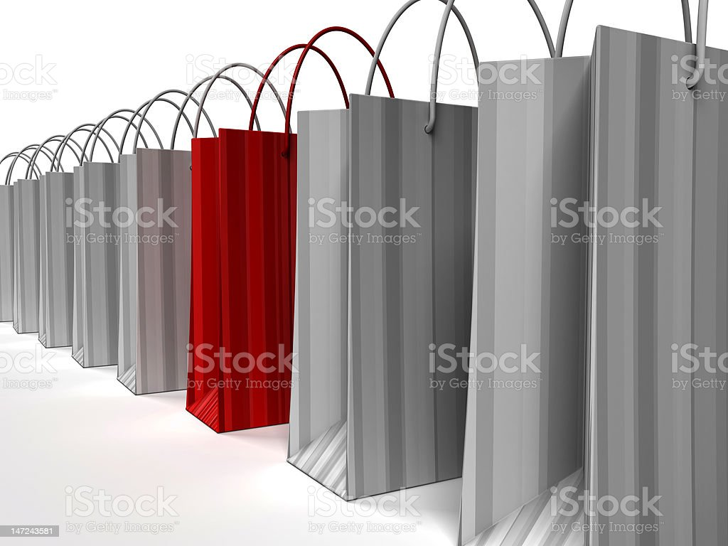 Special Shopping Bag royalty-free stock photo