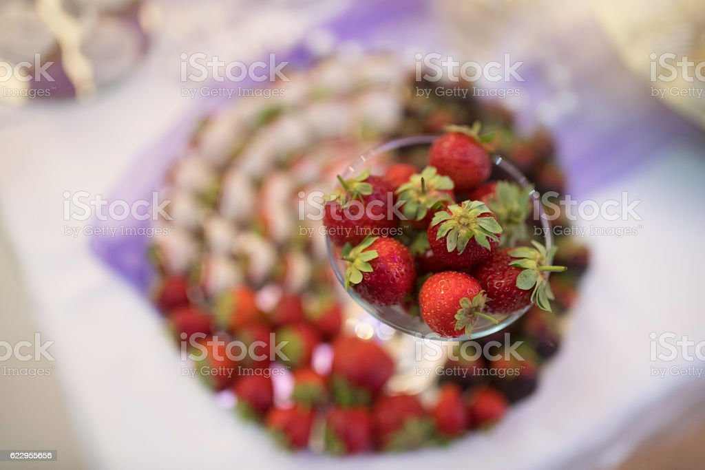 Special strawberries stock photo