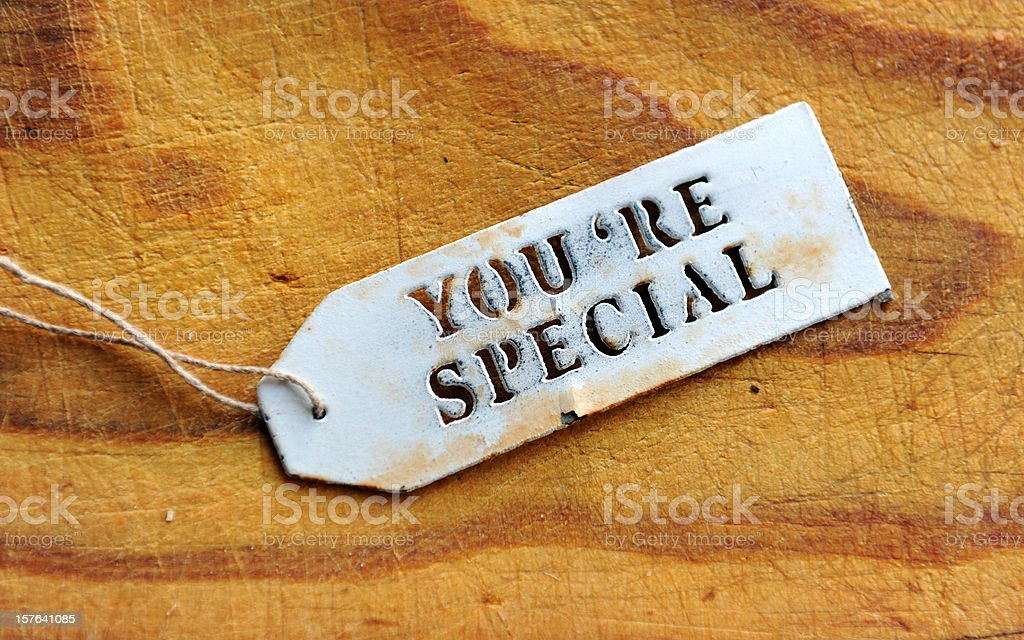 Special Tag royalty-free stock photo