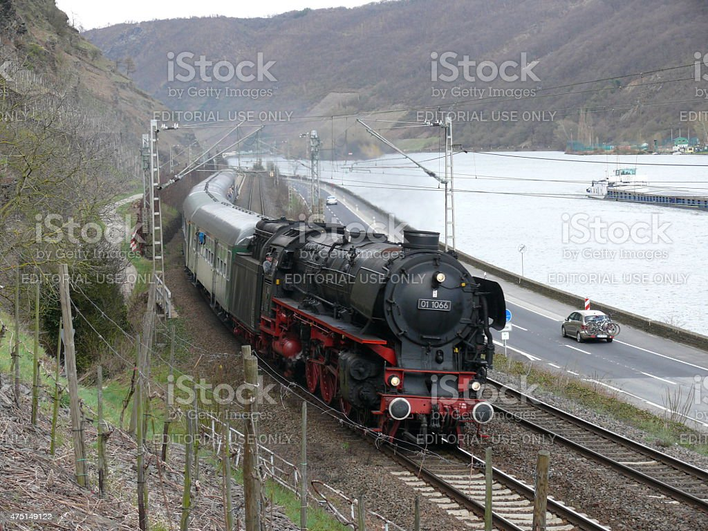 Special trip 01 1066 at the mosel railroad royalty-free stock photo