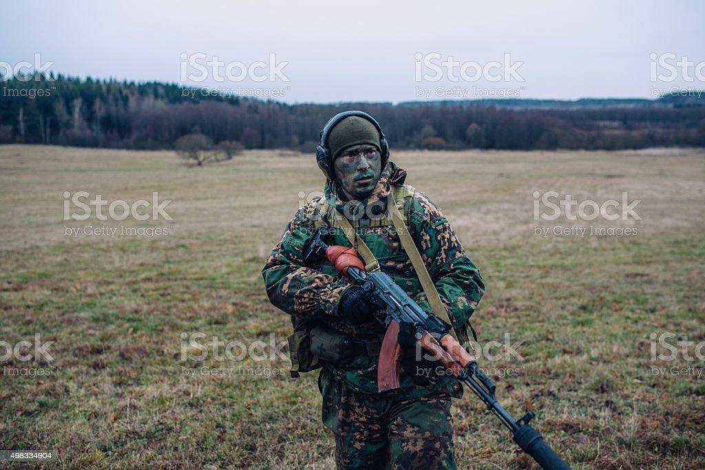 Special troops soldier. stock photo