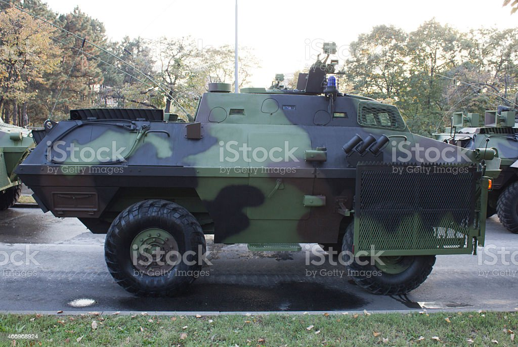 special vehicle against demonstrations stock photo