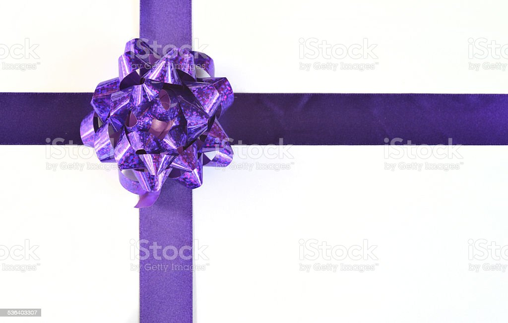 special wrapped gift. stock photo