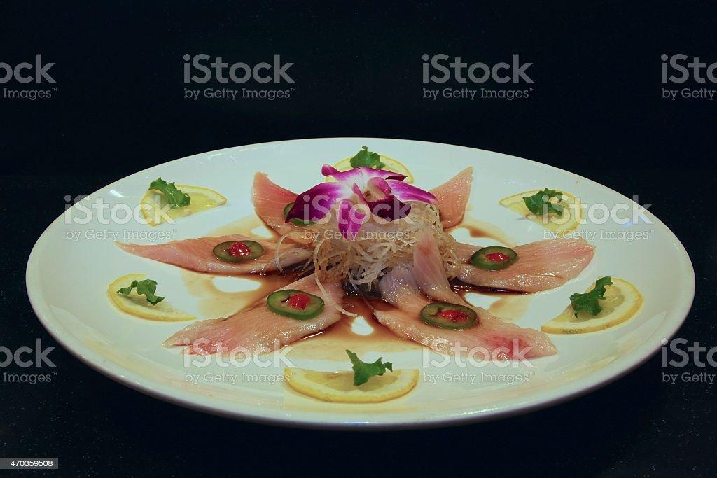 Special Yellowtail Tuna Sashimi stock photo