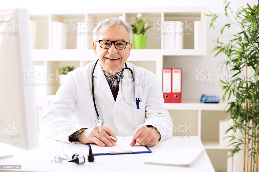 Specialist doctor otologist stock photo