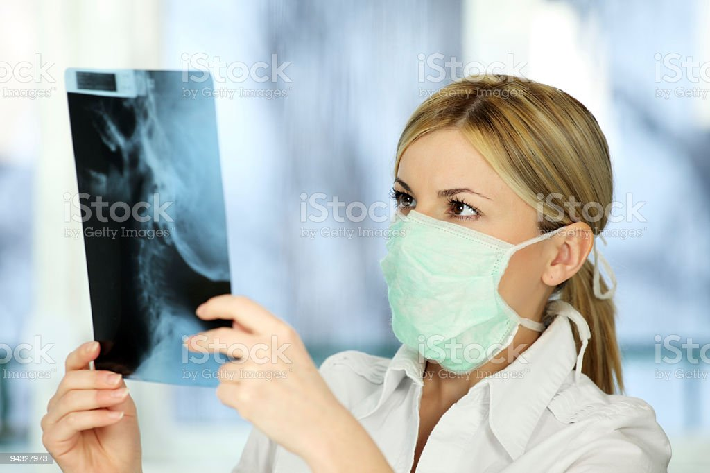 Specialist looking at x-ray. royalty-free stock photo