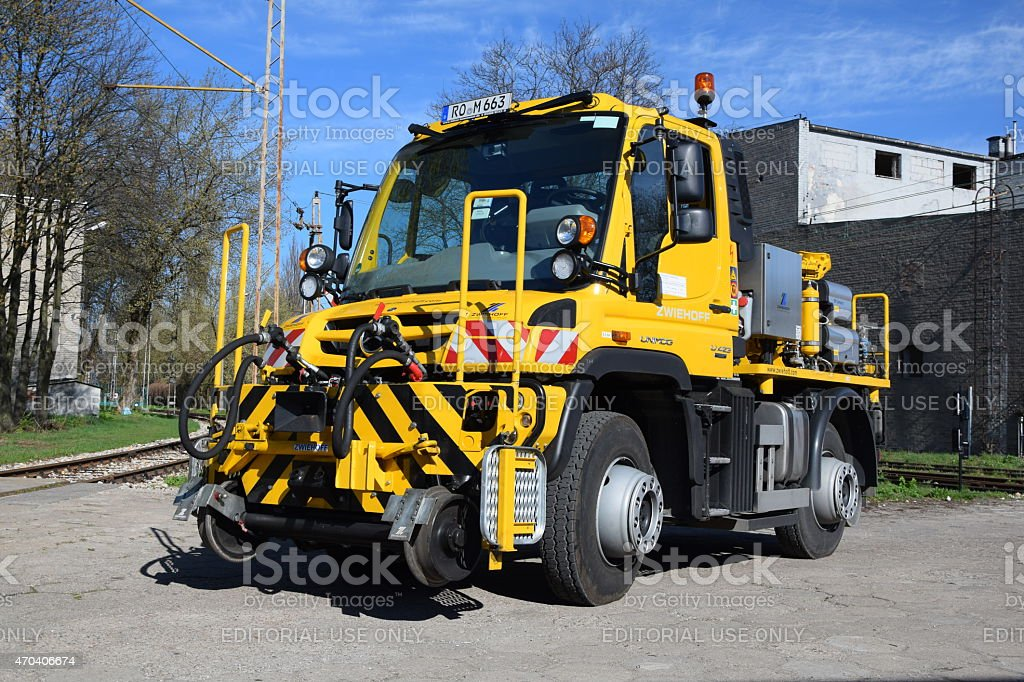 Specialized road/rail vehicle stock photo