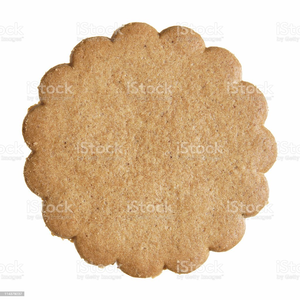 Specially shaped ginger biscuit stock photo