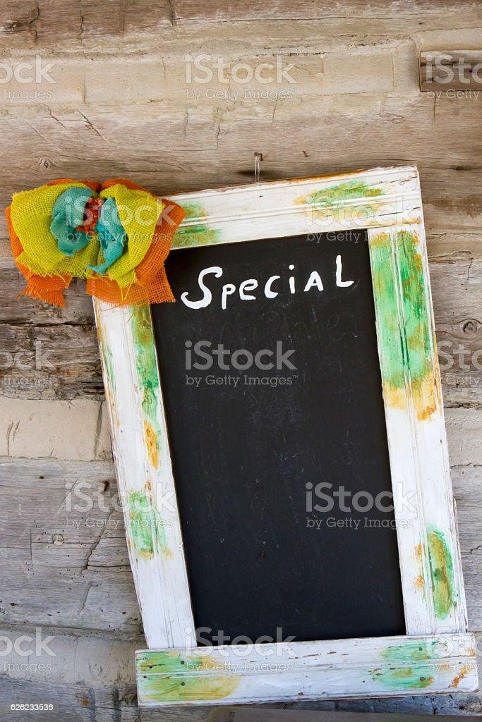 Specials board stock photo