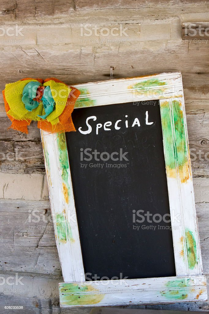 Specials board stock photo