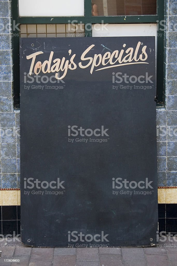 Specials board with clipping path royalty-free stock photo