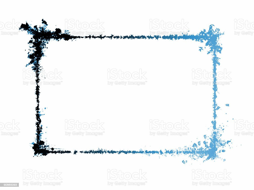 Speciel grunge frame - blue royalty-free stock photo
