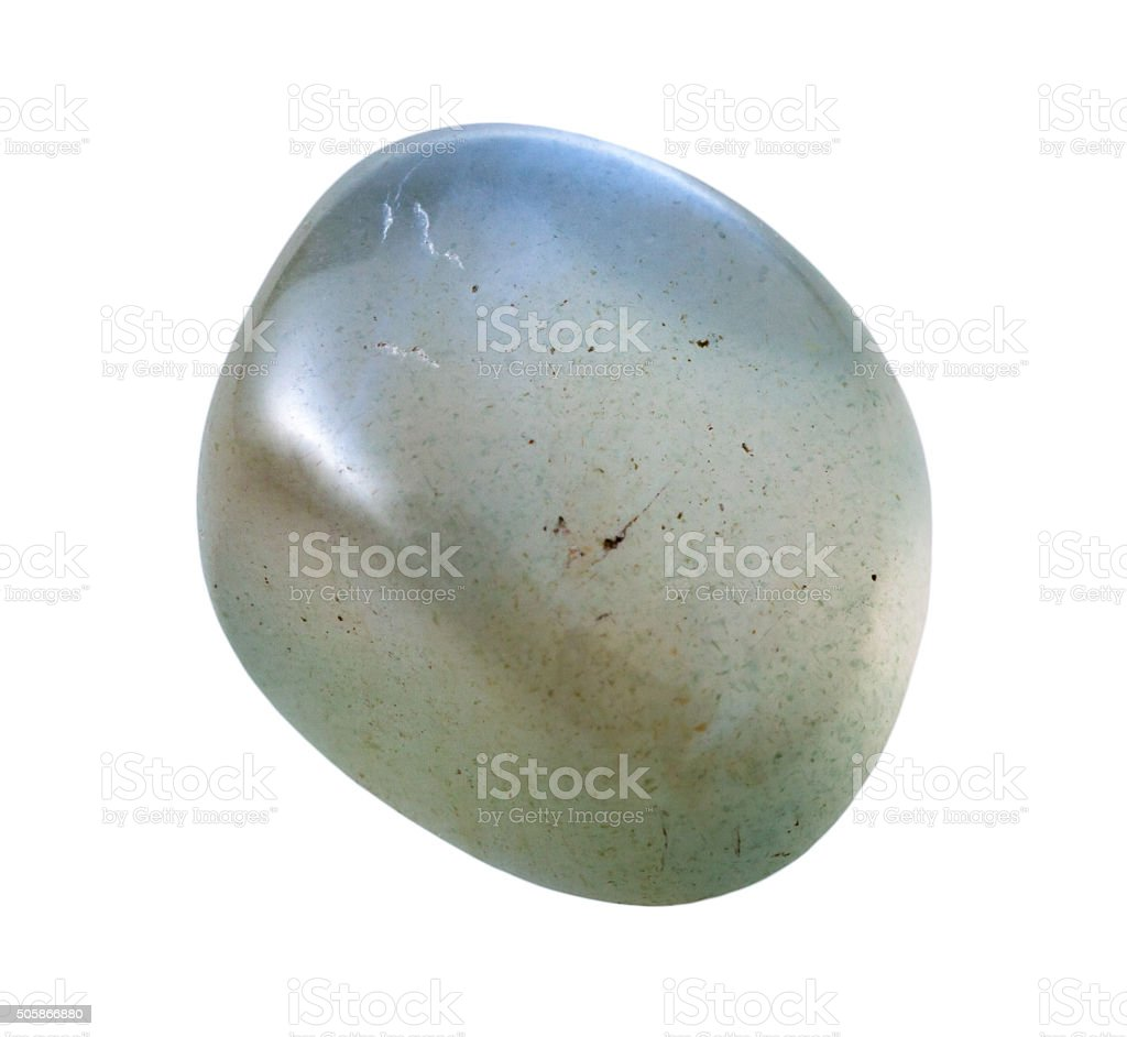 specimen of Moonstone (adularia, adular) gemstone stock photo