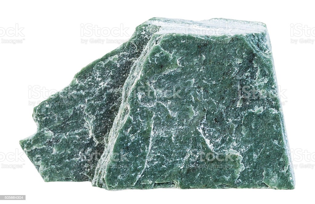 specimen of Phyllite mineral stone isolated stock photo