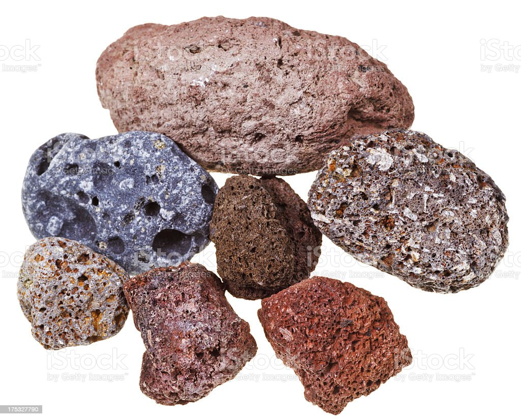 Specimens of pumice royalty-free stock photo