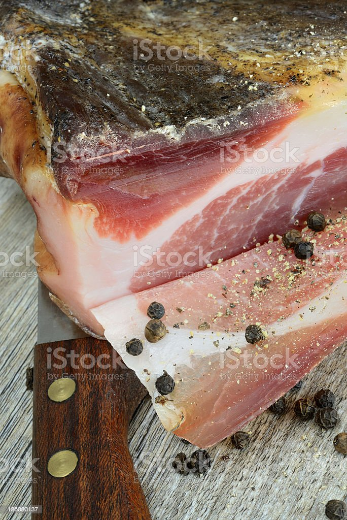 speck bacon royalty-free stock photo