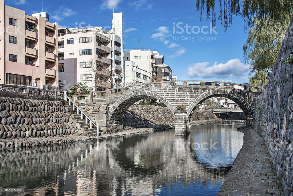 Spectacles Bridge in Nagasaki stock photo