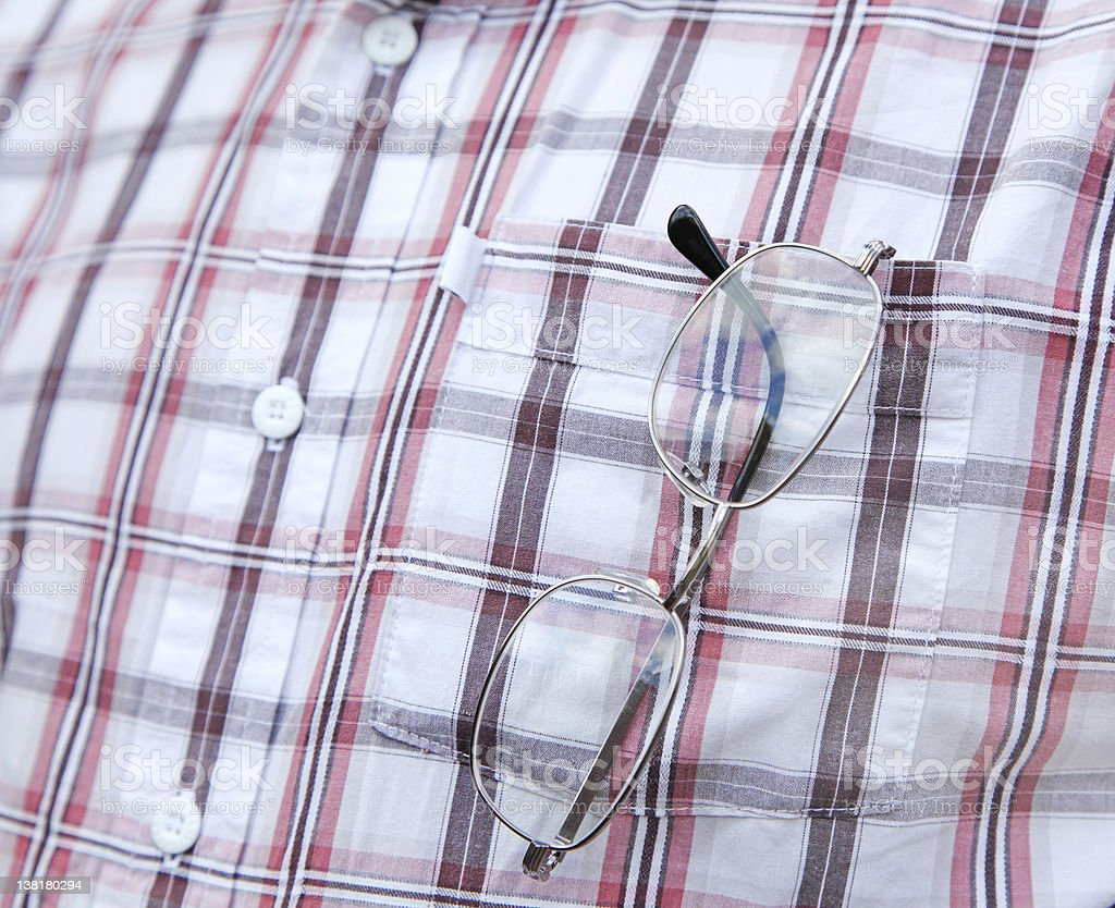 spectacles in pocket stock photo