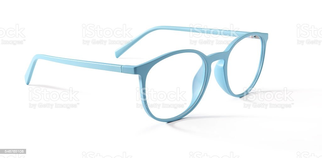 spectacles isolated on white background stock photo