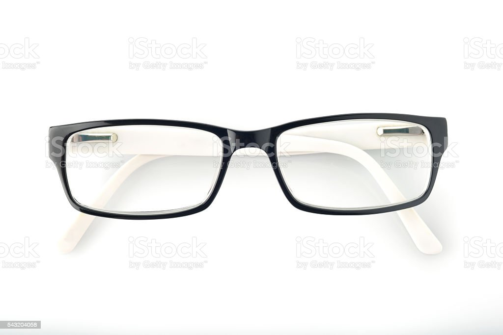 Spectacles on White Background stock photo