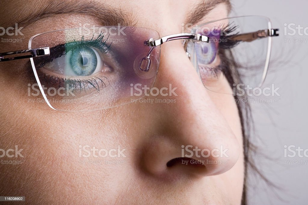 Spectacles with facial detail royalty-free stock photo