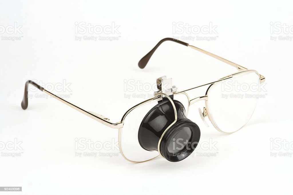 Spectacles With Loupe royalty-free stock photo