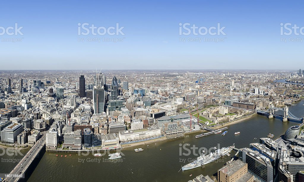 Spectacular aerial view of central London royalty-free stock photo