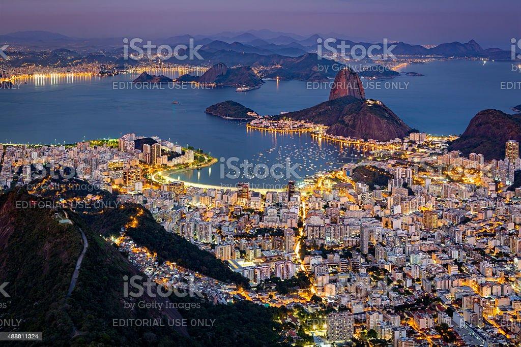 Spectacular aerial view over Rio de Janeiro stock photo