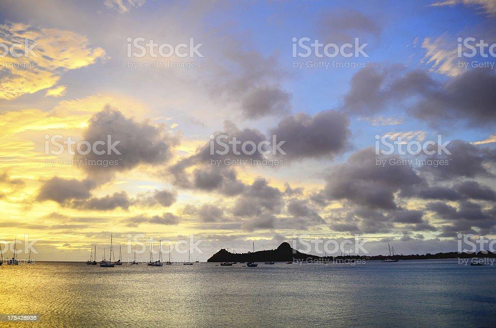 spectacular caribbean island scenic stock photo