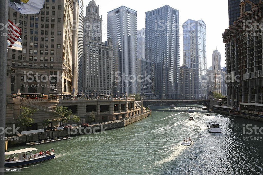 Spectacular Chicago Downtown stock photo