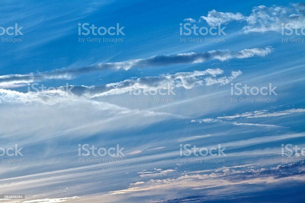 Spectacular clouds stock photo