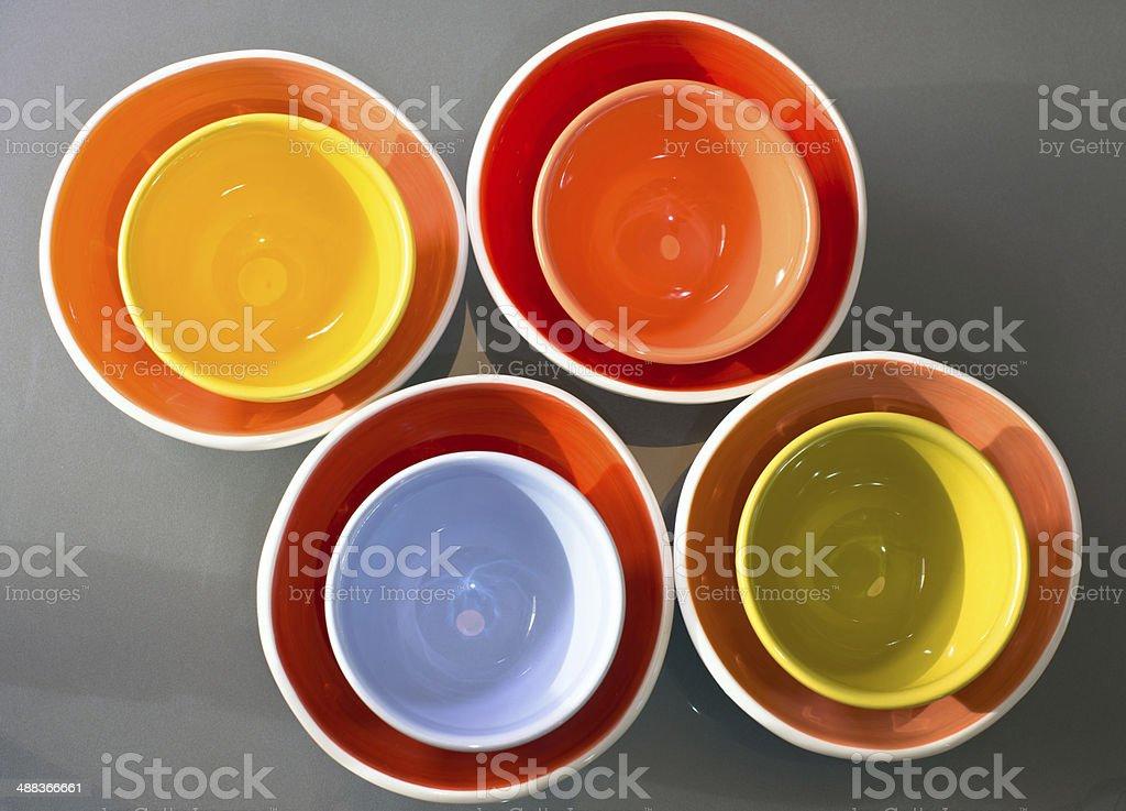 Colorato spettacolare ciotole inserito in un altro foto stock royalty-free