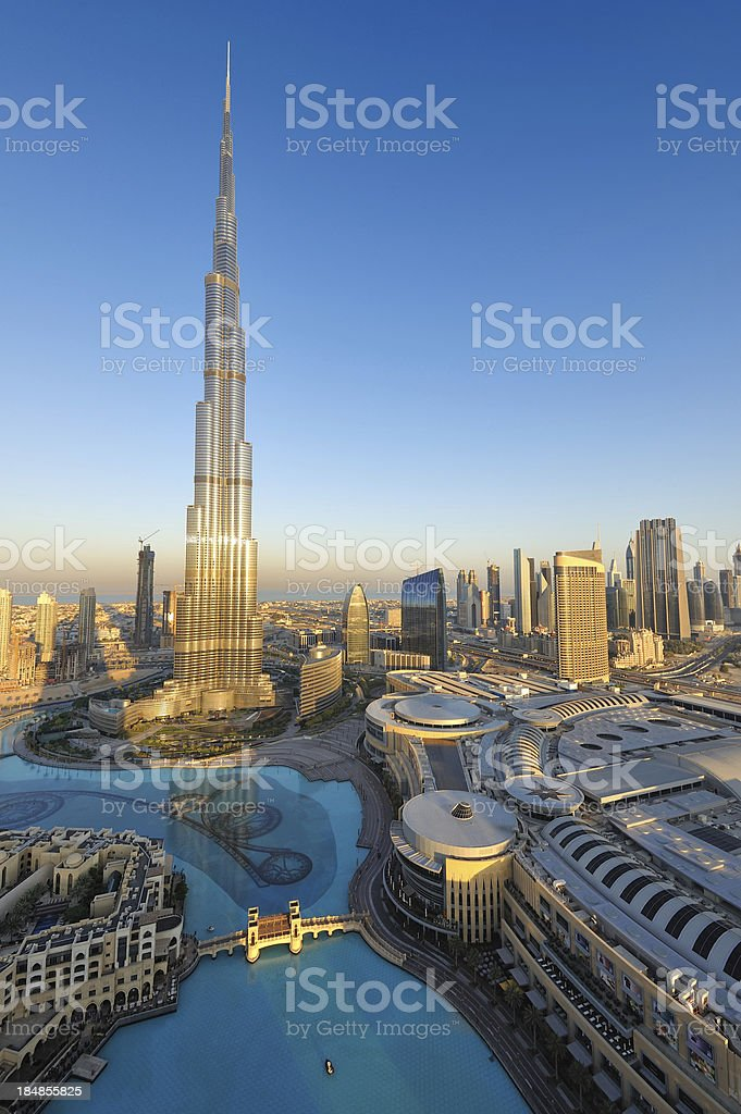spectacular dubai stock photo