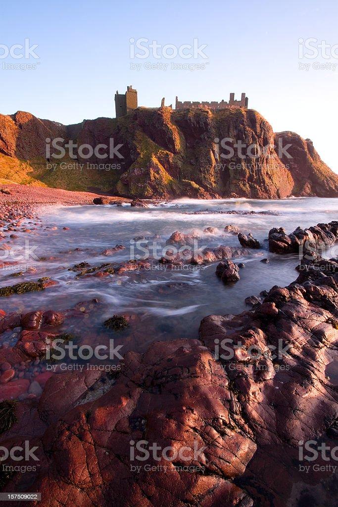 Spectacular Dunnottar Castle, Aberdeenshire. stock photo