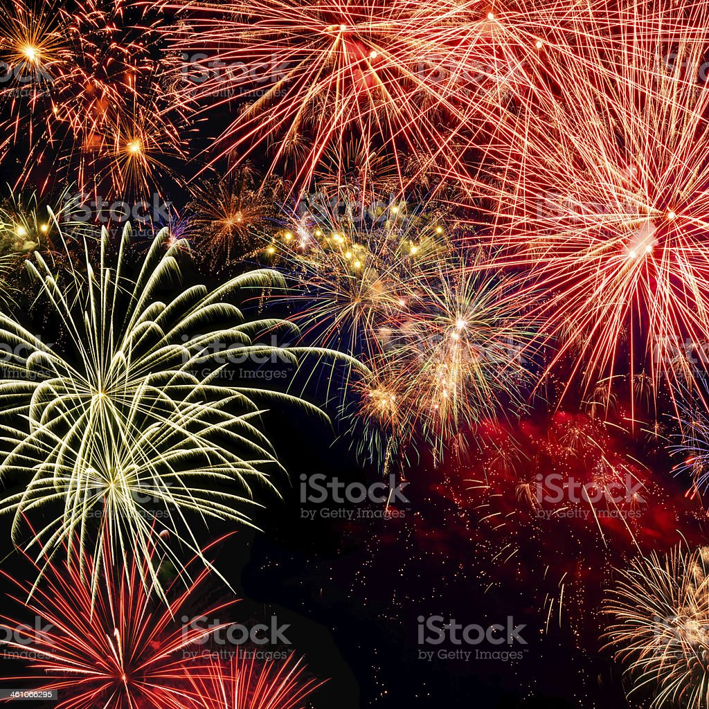 Spectacular fireworks royalty-free stock photo