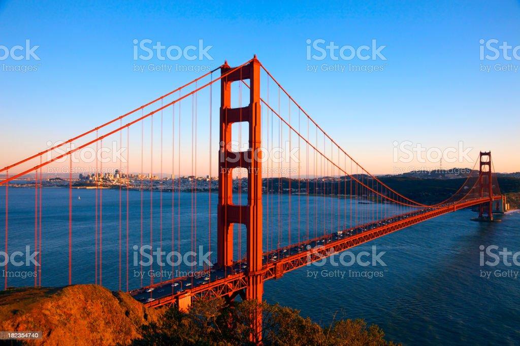 Spectacular Golden Gate Bridge stock photo