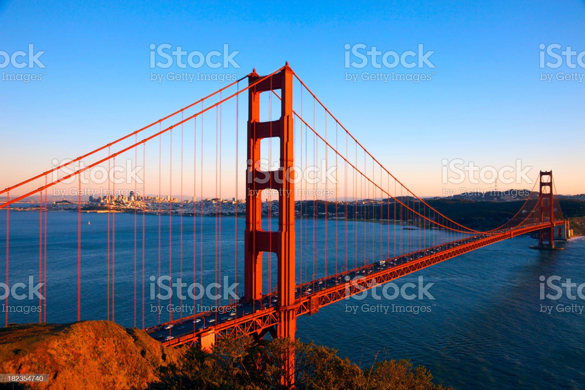 Spectacular Golden Gate Bridge royalty-free stock photo