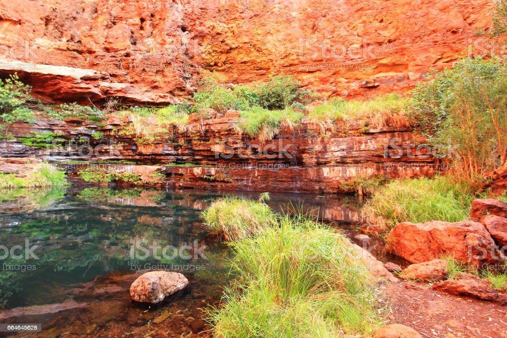 Spectacular landscape of Western Australian Karijini National Park stock photo