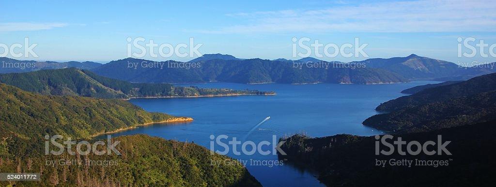 Spectacular Marlborough Sounds stock photo