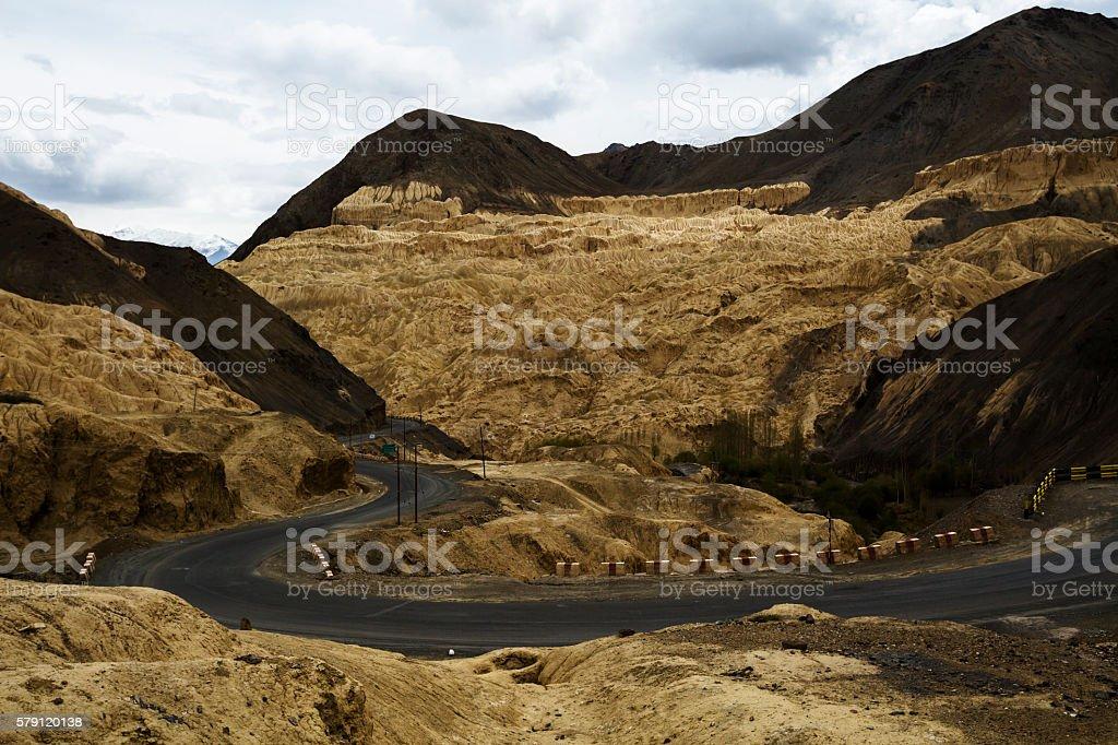 Spectacular mountain scenery Himalaya Range background. stock photo