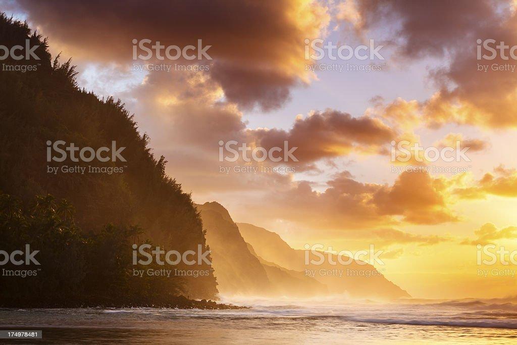 Spectacular Na Pali Coast royalty-free stock photo