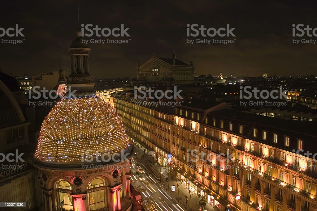 Spectacular Night View of Paris royalty-free stock photo