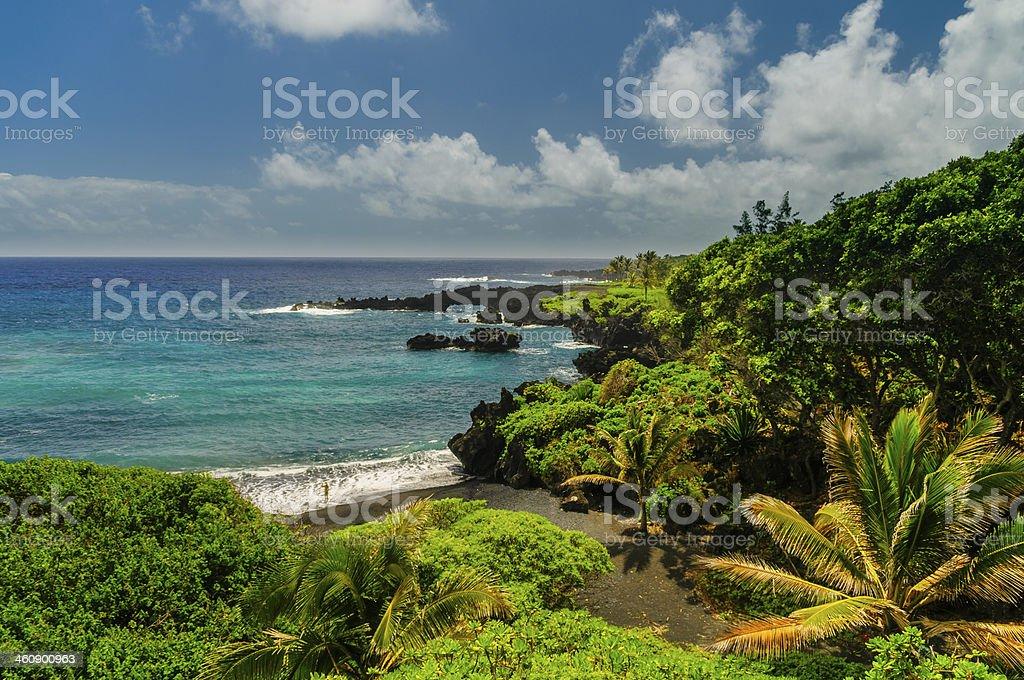 Spectacular ocean view on the Road to Hana, Maui, Hawaii. royalty-free stock photo