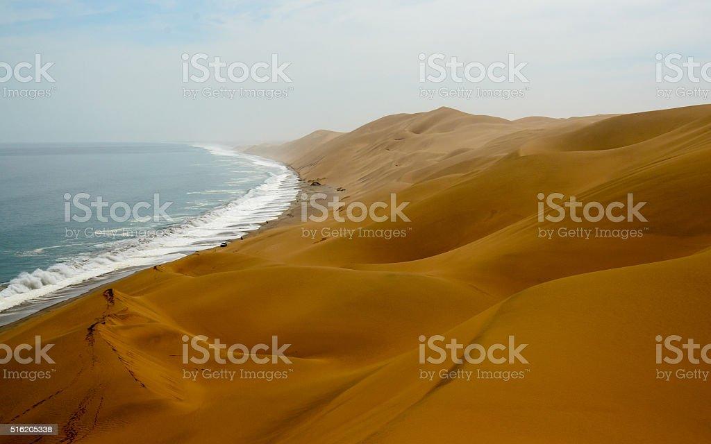 Spectacular scenery of the Namibian coastline stock photo