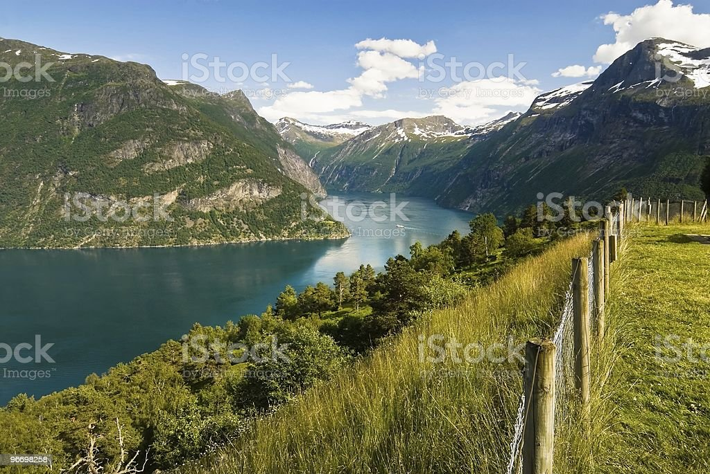 Spectacular summer fjord royalty-free stock photo