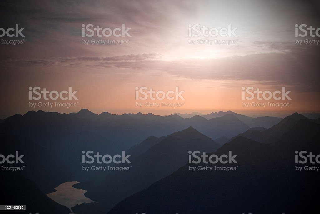 Spectacular Sunrise in Austria stock photo