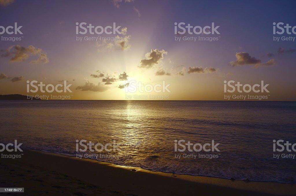 spectacular sunset beach landscape royalty-free stock photo