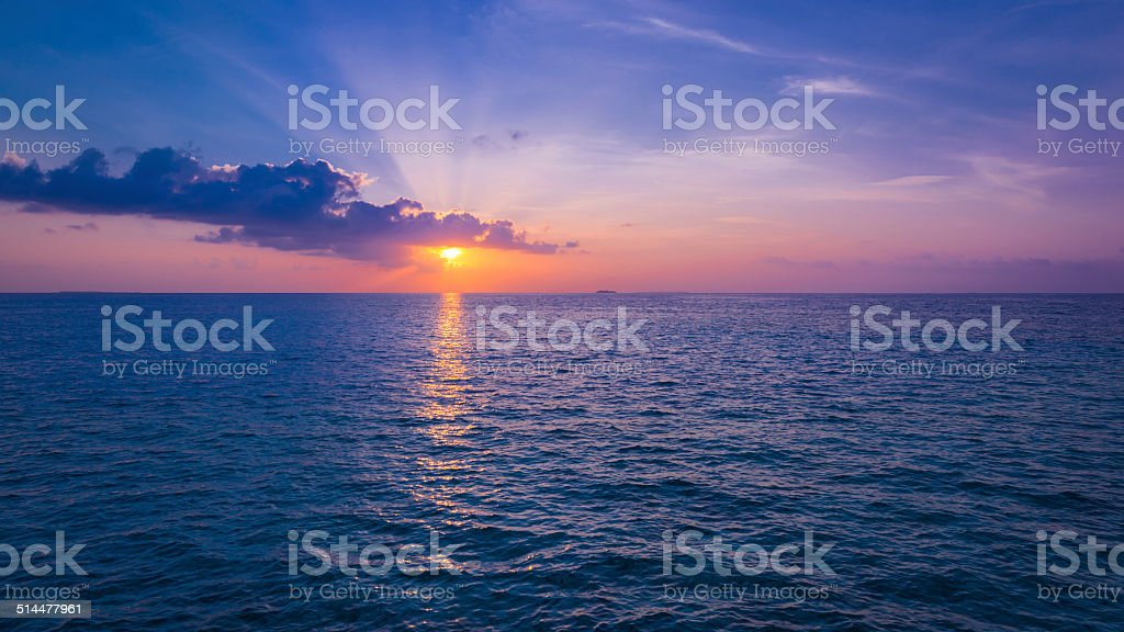 Spectacular sunset. stock photo