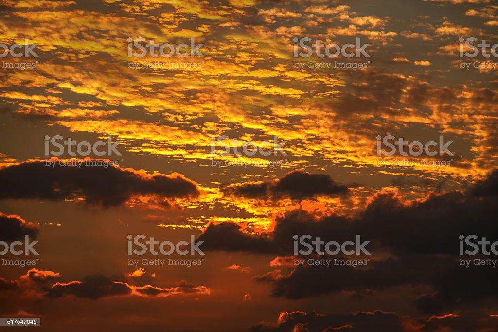 Spectacular sunset royalty-free stock photo
