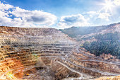 Spectacular view of an open-pit mine